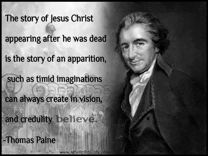 Black Jesus Quotes Endearing Thomas Paine The Story Of Jesus Christ Is The Story Of An Apparition
