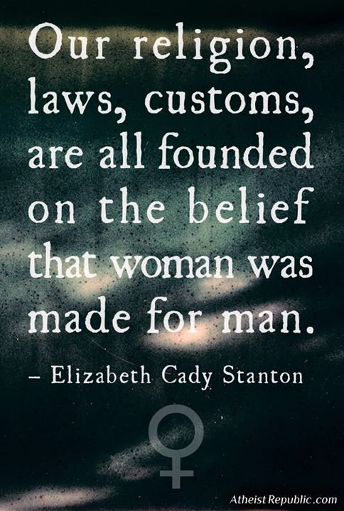 The Belief That Woman was Made for Man