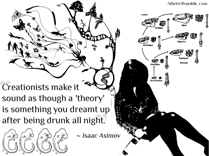a theory is not something you dreamt up