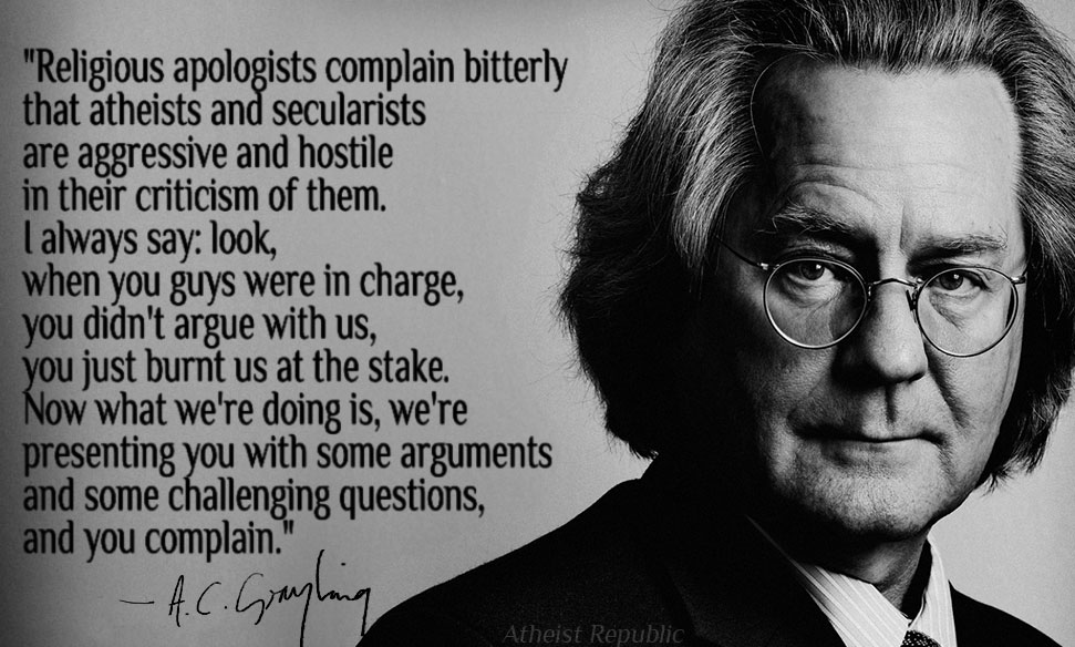 Religious Fundamentalism Examples A  C  Grayling on religious