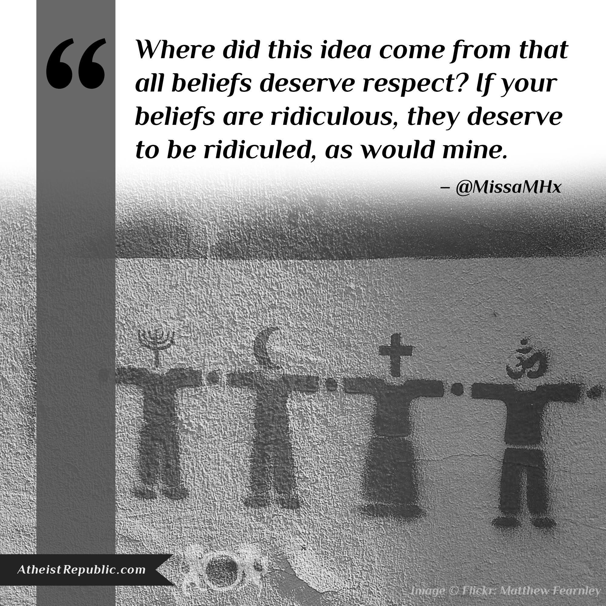 All Beliefs Require Respect