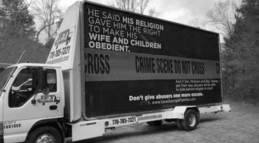 Billboard Targets Religious Freedom Bill