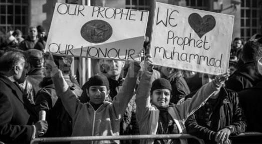 British Muslims Protest