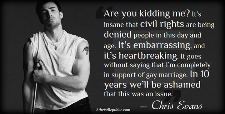 Chris Evans on Gay Marriage