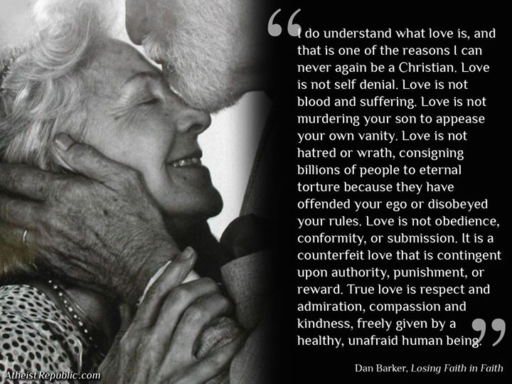 love is one reason i can never again be a christian dan
