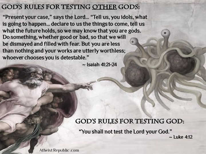 The Bible on Testing Gods