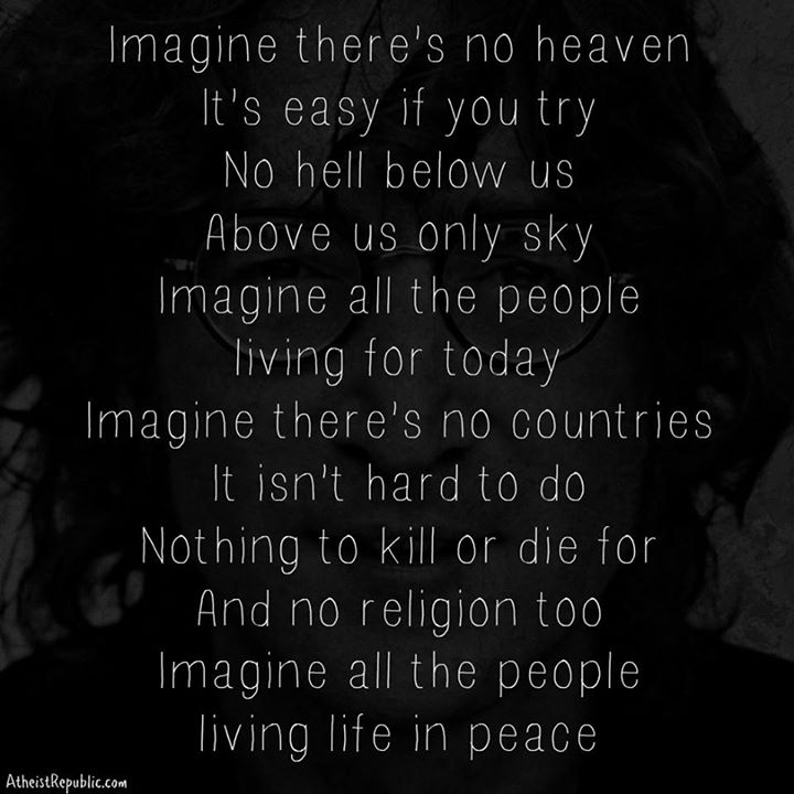 John Lennon Imagine Theres No Religion