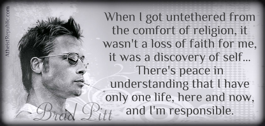 Atheism & Religion - Brad Pitt