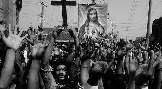 Pakistan Church Bombing Protest