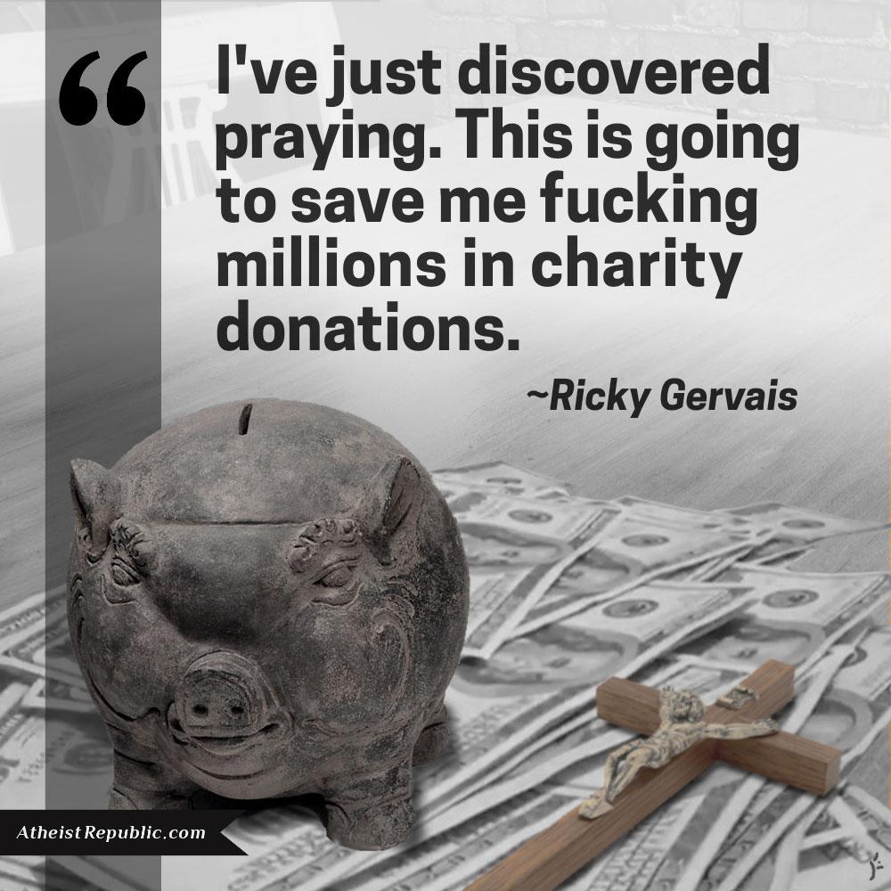 Praying Ricky Gervais