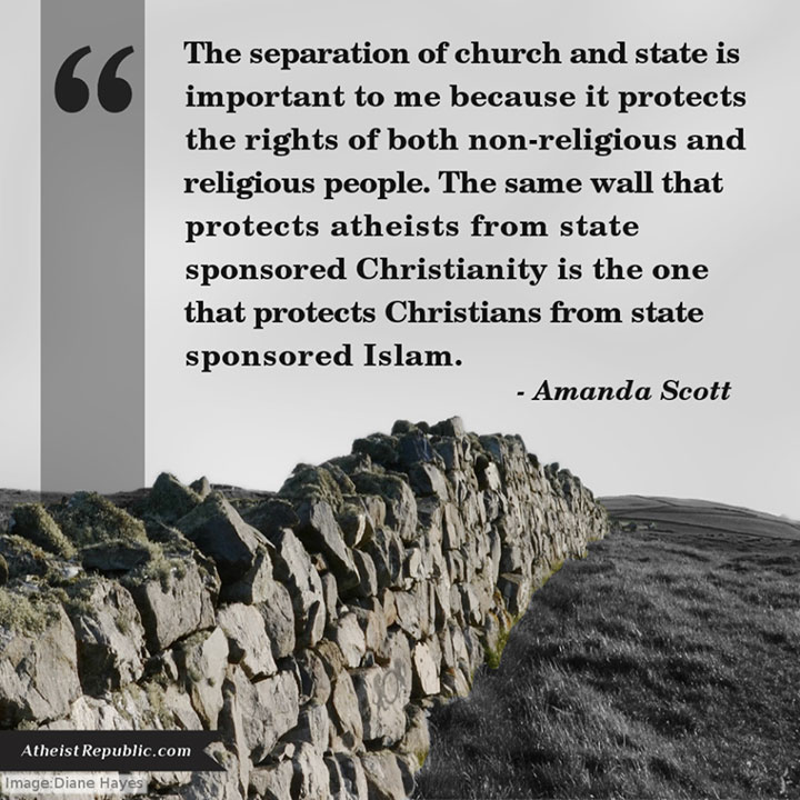 separation of church and state in the Separation of church and state is a concept based in the establishment clause, found in the first amendment of the us constitution the establishment clause was extended to apply to the states through the fouteenth amendment, and prohibits laws dealing with the establishment of religion.