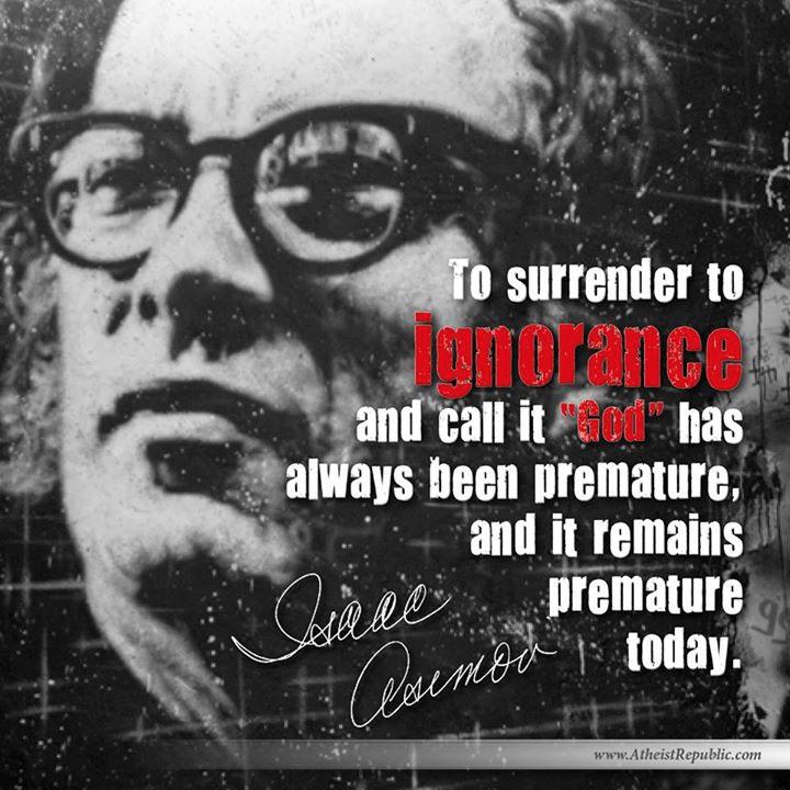 To Surrender Ignorance - Isaac Asimov