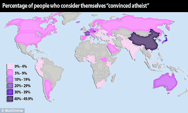 Atheist World Percentage