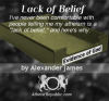 Lack of Belief - Alexander James