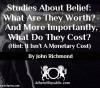 Studies about Belief