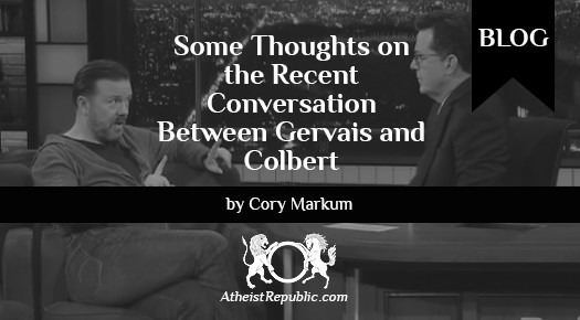 Gervais and Colbert Conversation