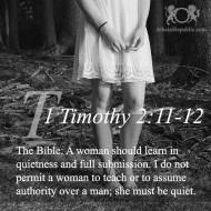 1 Timothy 2:11-12