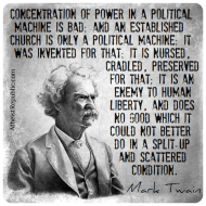 An Established Church is Only a Political Machine
