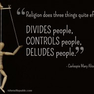 Religion does three things quite effectively