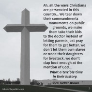 Christians Persecuted Erica Brown