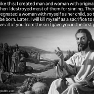 Created Man With Sin