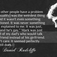 Daniel Radcliffe on Homosexuality