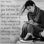 Dear Theists
