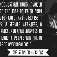 Dissociate Faith From Virtue - Hitchens