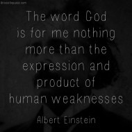 God Expression of Human Weakness