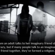 God Imaginary Friend Forms Religion