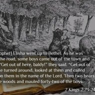 God sends bears to rip up 42 children – The Bible (2 Kings 2:23-24)