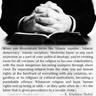 Human Rights in Secular State