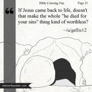Jesus Death Worthless?