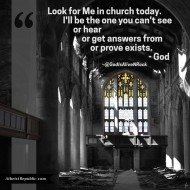 Look For God in Church Today