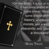 Mark Twain on the Bible
