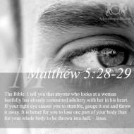 Matthew 5:28-29