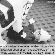 No one whose testicles are crushed shall enter Heaven!