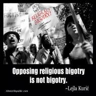 Opposing Bigotry