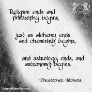 Philosophy Begins Where Religion Ends