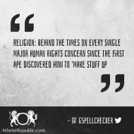 Religion Behind the Times
