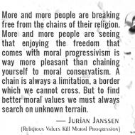 Religious Values Kill Moral Progression
