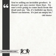 Selling an Invisible Product - Bill Maher