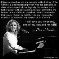 Tim Minchin on the Existence of God