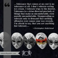 Tolerance - Christopher Robichaud