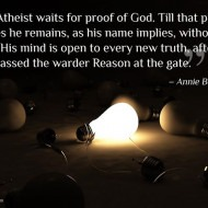 Atheist Waits for Proof of God