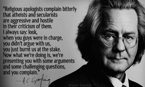 AC Grayling on Religious Apologists Complain on Aggressive Atheism