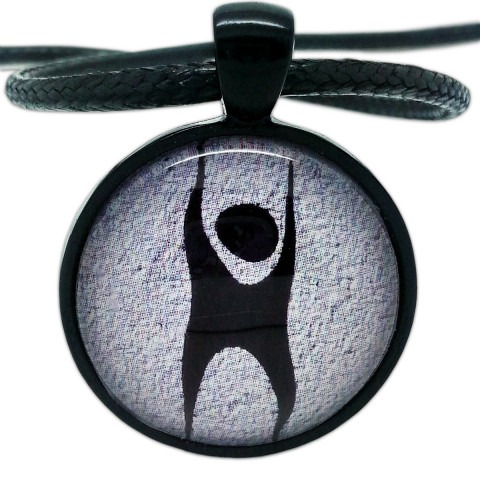 Humanist Logo, Black and Grey Pendant Necklace