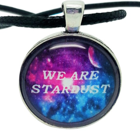 """Atheist Logo """"We Are Stardust"""" Pendant Necklace"""