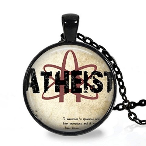 Atheist science logo pendant necklace aloadofball Choice Image