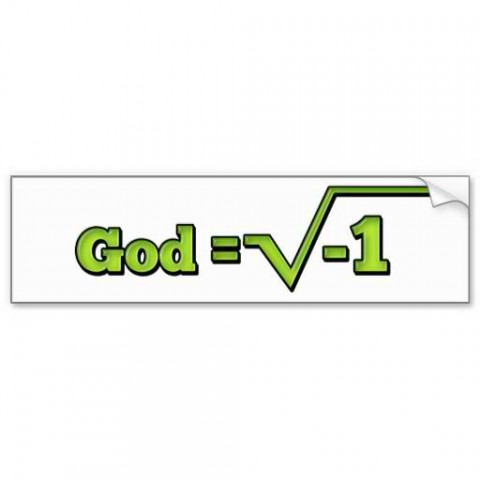 God is imaginary sticker